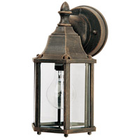 Builder Cast 1 Light 10 inch Rust Patina Outdoor Wall Mount