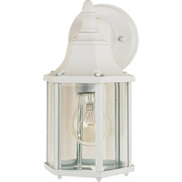 Maxim Lighting Builder Cast 1 Light Outdoor Wall Mount in White 1026WT photo thumbnail