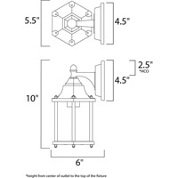 Maxim 1026EB Builder Cast 1 Light 10 inch Empire Bronze Outdoor Wall Mount alternative photo thumbnail