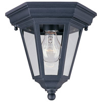 Maxim Lighting Westlake 1 Light Outdoor Ceiling Mount in Black 1027BK photo thumbnail