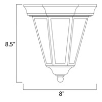 Maxim Lighting Westlake 1 Light Outdoor Ceiling Mount in Black 1027BK alternative photo thumbnail