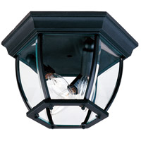 Maxim Lighting Signature 3 Light Outdoor Ceiling Mount in Black 1029BK