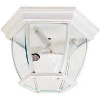 Maxim Lighting Signature 3 Light Outdoor Ceiling Mount in White 1029WT