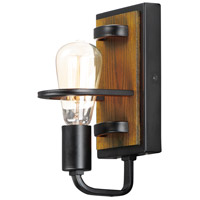 Maxim 10301BKASB Black Forest 1 Light Black and Ashbury Wall Sconce Wall Light