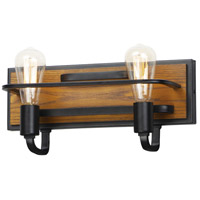 Maxim 10302BKASB Black Forest 2 Light 16 inch Black and Ashbury Bath Vanity Wall Light