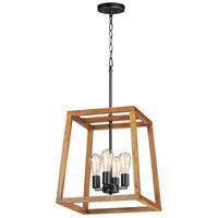 Maxim 10306BKASB Black Forest 4 Light 17 inch Black and Ashbury Chandelier Ceiling Light
