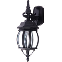 Maxim 1030BK Crown Hill 1 Light 16 inch Black Outdoor Wall Mount