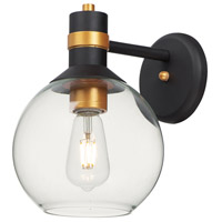 Maxim 10318CLBZGLD Cabin LED 11 inch Bronze and Gold Outdoor Wall Mount