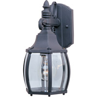 Maxim 1031BK Crown Hill 1 Light 11 inch Black Outdoor Wall Mount