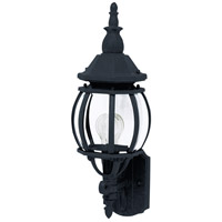 Maxim 1032BK Crown Hill 1 Light 19 inch Black Outdoor Wall Mount