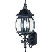 Crown Hill 3 Light 24 inch Black Outdoor Wall Mount