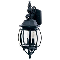 Crown Hill 3 Light 23 inch Black Outdoor Wall Mount