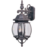 Maxim 1034RP Crown Hill 3 Light 23 inch Rust Patina Outdoor Wall Mount