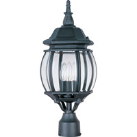 Maxim 1035BK Crown Hill 3 Light 21 inch Black Outdoor Pole/Post Lantern