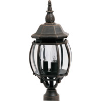 Crown Hill 3 Light 21 inch Rust Patina Outdoor Pole/Post Lantern