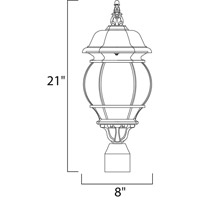 Maxim 1035BK Crown Hill 3 Light 21 inch Black Outdoor Pole/Post Lantern alternative photo thumbnail