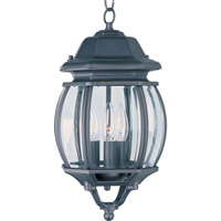 Maxim 1036BK Crown Hill 3 Light 8 inch Black Outdoor Hanging Lantern