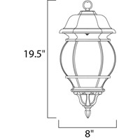 Maxim 1036BK Crown Hill 3 Light 8 inch Black Outdoor Hanging Lantern alternative photo thumbnail