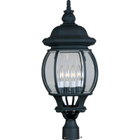 Maxim 1038BK Crown Hill 4 Light 27 inch Black Outdoor Pole/Post Lantern
