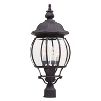 Maxim 1038RP Crown Hill 4 Light 27 inch Rust Patina Post Lantern