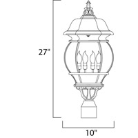 Maxim 1038BK Crown Hill 4 Light 27 inch Black Outdoor Pole/Post Lantern alternative photo thumbnail