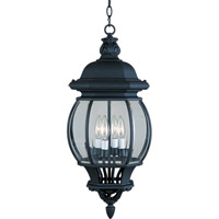 Maxim 1039BK Crown Hill 4 Light 11 inch Black Outdoor Hanging Lantern