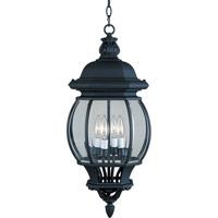 Maxim 1039BK Crown Hill 4 Light 11 inch Black Outdoor Hanging Lantern