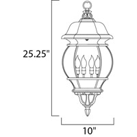 Maxim 1039RP Crown Hill 4 Light 11 inch Rust Patina Outdoor Hanging Lantern alternative photo thumbnail