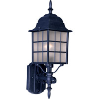 Maxim Lighting North Church 1 Light Outdoor Wall Mount in Black 1050BK