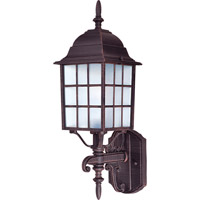 Maxim 1050RP North Church 1 Light 19 inch Rust Patina Outdoor Wall Mount
