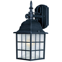 Maxim Lighting North Church 1 Light Outdoor Wall Mount in Black 1051BK