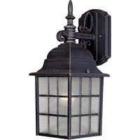 Maxim 1051RP North Church 1 Light 11 inch Rust Patina Outdoor Wall Mount