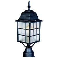Maxim Lighting North Church 1 Light Outdoor Pole/Post Lantern in Black 1052BK