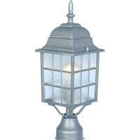 Maxim Lighting North Church 1 Light Outdoor Pole/Post Lantern in Pewter 1052PE