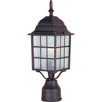 North Church 1 Light 17 inch Rust Patina Outdoor Pole/Post Lantern