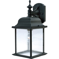 Maxim 1056BK Senator 1 Light 16 inch Black Outdoor Wall Mount
