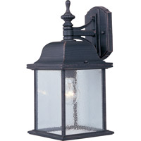 Maxim Lighting Senator 1 Light Outdoor Wall Mount in Rust Patina 1056RP