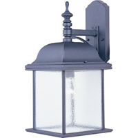Maxim Lighting Senator 1 Light Outdoor Wall Mount in Black 1057BK
