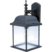 Maxim Lighting Senator 1 Light Outdoor Wall Mount in Rust Patina 1057RP