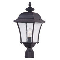 Maxim 1065RP Senator 1 Light 20 inch Rust Patina Outdoor Pole/Post Lantern