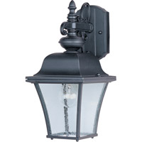 Maxim 1066BK Senator 1 Light 15 inch Black Outdoor Wall Mount