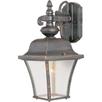 Maxim Lighting Senator 1 Light Outdoor Wall Mount in Rust Patina 1066RP
