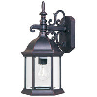 Maxim Lighting Builder Cast 1 Light Outdoor Wall Mount in Empire Bronze 1071CLEB