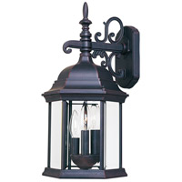 Maxim Lighting Builder Cast 3 Light Outdoor Wall Mount in Empire Bronze 1073CLEB