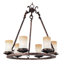 Maxim Lighting Notre Dame 6 Light Single Tier Chandelier in Oil Rubbed Bronze 10975WSOI