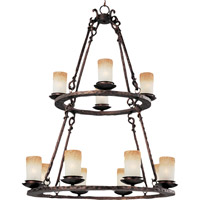 Maxim 10977WSOI Notre Dame 12 Light 32 inch Oil Rubbed Bronze Multi-Tier Chandelier Ceiling Light