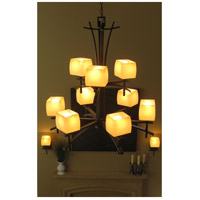 Asiana 9 Light 33 inch Roasted Chestnut Multi-Tier Chandelier Ceiling Light