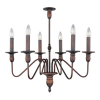 Maxim Lighting Towne 6 Light Single Tier Chandelier in Oil Rubbed Bronze 11034OI