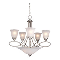 Maxim Lighting Nova 7 Light Multi-Tier Chandelier in Satin Nickel 11041MRSN