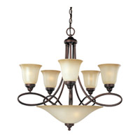 Maxim 11041WSOI Nova 7 Light 28 inch Oil Rubbed Bronze Multi-Tier Chandelier Ceiling Light photo thumbnail